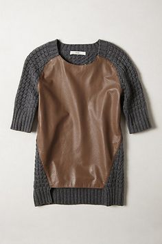 Leather Plane Pullover  #anthropologie #AnthroFave
