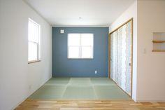 和室/畳スペース/ブルーの壁紙/インテリア/注文住宅/施工例/ジャストの家/japanese room/interior/house/homedecor/housedesign