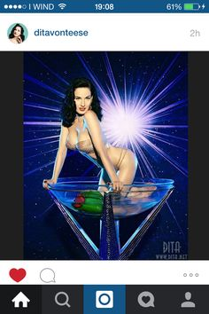 Dita in a Glass Cup.