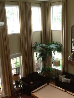 Two story curtains
