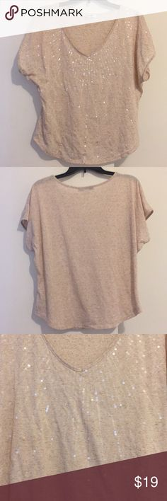 Forever 21 Sequin Top Forever 21 sequin top, size Medium. Cream/tan color. Forever 21 Tops