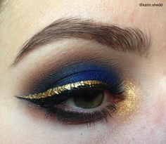 navy blue gold eye