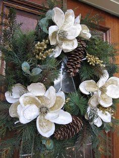 Magnolia Christmas wreath