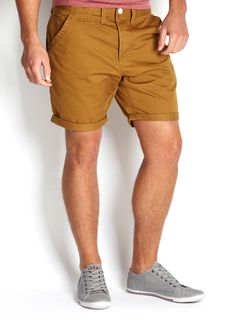 Chino Shorts. Rolled