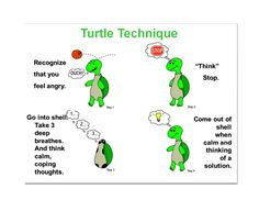 social story called Tucker the Turtle that teaches kids how to work through their anger or frustration.