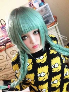Love the color (its a dyed wig) her name(Facebook) is Berry Tsukasa.