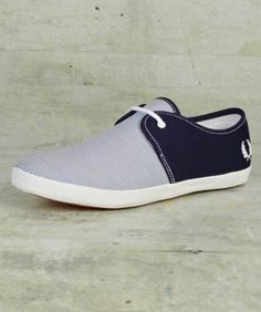 Fred Perry - Banks Woven Stripe & Canvas Shoe