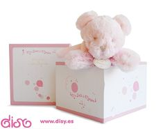 Peluches para bebes musical - Oso rosa 20cm  DouDou et Compagnie
