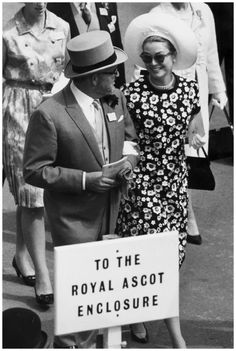 Prince Rainier of Monaco and Princess Grace Kelly attending the Royal Meeting at Ascot, Berkshire, June 14th 1966.