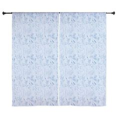 Blue Texture Curtain
