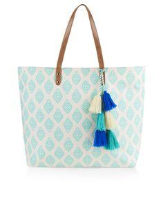 Print Block Tote Bag