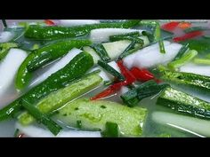 Tteokbokki Recipe, Korean Food, Fritters, Kimchi, Cucumber, Zucchini, Dinner, Vegetables, Cooking