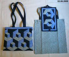 3D taška modrá