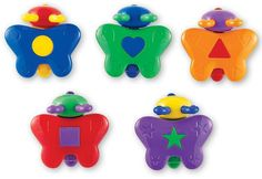Learning resources Snap-n-Learn Shape Butterflies by Learning Resources