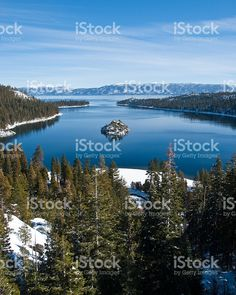 Fannette Island, Emerald Bay, Lake Tahoe and the Sierra Nevada royalty-free stock photo