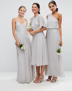 Discover the latest dresses with ASOS. From party, midi, long sleeved and maxi dresses to going out dresses. Shop from thousands of dresses with ASOS. Beautiful Bridesmaid Dresses, Bridesmaid Outfit, Dresses To Wear To A Wedding, Short Bridesmaid Dresses, Wedding Attire, Bridesmaids, Embellished Bridesmaid Dress, Asos Wedding, Wedding 2017