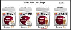Tassimo Costa pods Slimming World Tips, Slimming World Desserts, Tassimo Pods, Coffee Pods, Health And Nutrition, Diet Tips, Healthy Living, Costa, Cereal