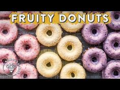 3 Fruity Donuts - Lemon, Blueberries, Strawberries — Honeysuckle