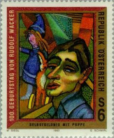 Self portrait by Rudolf Wacker (1893-1939)