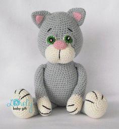 Pdf Crochet Pattern Amigurumi Pattern Cat Animal by LovelyBabyGift