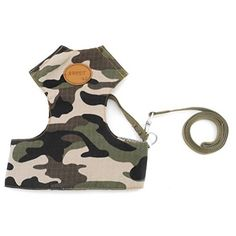 ZUNEA Camo Military Soft Small Dog Cat Vest Harness and Leash Set Adjustable Mesh Padded Pet Puppy Walking Training Leads Rope Blue S * More info could be found at the image url.(It is Amazon affiliate link) #denver