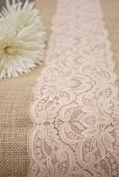 Antique Peach Light Pink Blush Taupe Pastel Lace Wedding by Jessmy, $16.00