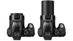 The Panasonic Lumix DMC-FZ70 is a 16-megapixel DSLR-styled bridge camera which packs a massive 60x zoom lens. This gives it a 35-mm format focal length equivalent of around 20-1,200-mm.