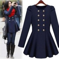 Adorable military styled swing jacket!