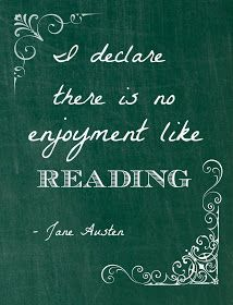 """Printable & Quotation of the Month - September """"I declare there is no enjoyment like reading"""" - Jane Austen I Love Books, Good Books, Books To Read, My Books, Jane Austen Quotes, Literary Quotes, Reading Quotes, Book Quotes, Quotes From Books"""