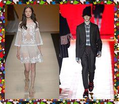 E que tal Alberta Ferretti primavera-verão 2015 pra noiva e Dior outono-inverno 2016/17 pro noivo? Achou o seu look?