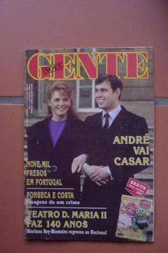 Príncipe Andrew e Sarah Ferguson na capa da Nova Gente.