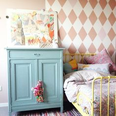 Lovely Bibelotte room with the Little collection bedding, wallpaper, cushions