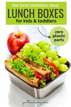 The Best Stainless Steel Lunch Boxes for Toddlers Make Ahead Meals, Healthy Meals For Kids, Quick Easy Meals, Kids Meals, Healthy Snacks, Healthy Recipes, Easy Recipes, Steel Lunch Box, Italian Chopped Salad