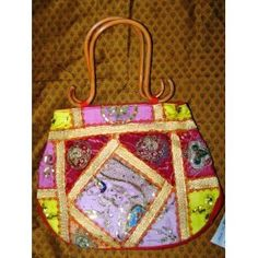 Womens Purse Banjara Mirrors Sari Handbag (Apparel)