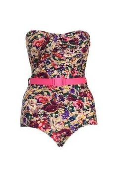 Belt it up in this retro style swimsuit - so Marilyn. By Zimmerman from Fox & Rose