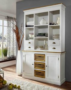 Cool Essbuffet York bezaubernder Buffet Schrank in Wei mit Antik Finish Landhausstil