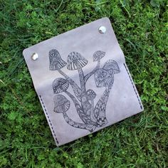 TheRollingStump shared a new photo on Etsy Leather Tobacco Pouch, Leather Pouch, Tan Leather, Leather Bags, Mobile Workshop, Medicine Bag, Wedding Favor Bags, Belt Pouch, Trees To Plant