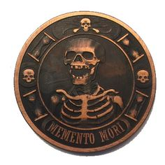 Image of Memento Mori (Remember you will Die) 1oz Copper Challenge Coin