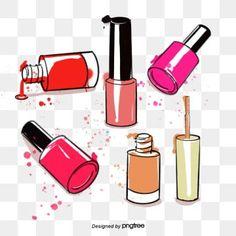 vector nail polish, Nail Polish, Cartoon Hand Drawing, Decorative Pattern PNG and Vector Nail Polish Painting, Pink Nail Polish, Pink Nails, Friendly Nails, Nail Logo, Hand Drawn Arrows, Beautiful Nail Polish, Create Website, Creative Nails