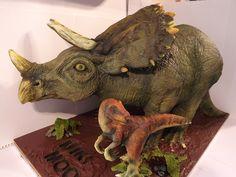 Cake Wrecks - Cool Cakes - Home - Jurassic Sweets The Good Dinosaur Cake, Dino Cake, Novelty Birthday Cakes, Novelty Cakes, Barney Cake, Mermaid Birthday Cakes, Cake Shapes, Sculpted Cakes, Cake Wrecks