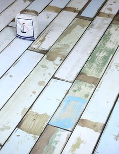 Colourful Beach House Cabin Deck Reclaimed Effect from £14.99m²