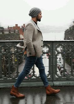 89 Cool Modest Winter Outfits For Men Street Style # Modest Winter Outfits, Winter Fashion Outfits, Casual Outfits, Fall Outfits, Men's Outfits, Casual Blazer, Casual Jeans, Casual Boots, Mode Masculine