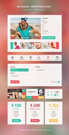 En Vogue – The Shopping UI Kit From PixelKit