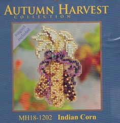 Autumn Indian Corn Mill Hill Cross Stitch Kit #MillHill