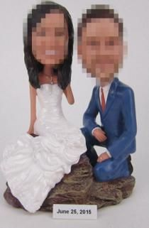 Custom cake toppers bride kneel down to her Funny Cake Toppers, Custom Cake Toppers, Custom Cakes, Bride And Groom Pictures, Photo Online, Eye Color, Design Your Own, My Photos, Clothes For Women