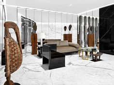 Saint Laurent's women's flagship in Beverly Hills debuts a private dressing salon