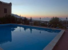 #[swimmingpool at the sunset #villarica, #sicily, #Patti