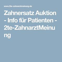 Zahnersatz Auktion - Info für Patienten - 2te-ZahnarztMeinung