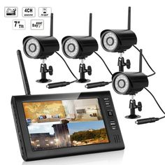 Wireless Home Security CCTV System Outdoor 7'' Mini LCD Kit Video Surveillance 4 IR Camera       More details welcome to www.e-winkyz.com