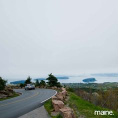 The drive up Cadillac Mountain on Mount Desert Island, ME